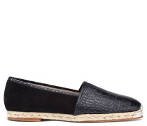 Crocodile-embossed leather espadrilles SANTIAGO