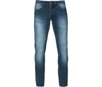 Slim fit treated washed