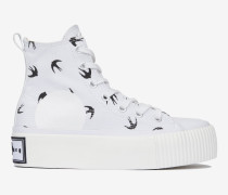 "High-Top-Plimsolls ""Mini Swallow"" mit Plateau"
