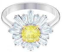 Sunshine Ring, Gr. 58, gelb, rhodinie...
