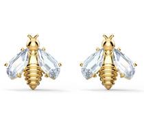 Eternal Flower Bee Ohrringe, weiss, vergoldet, ...