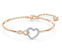 Infinity Heart Armreif, weiss, Metall...