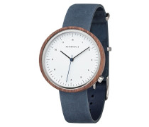 Herrenuhr Heinrich-Walnut-Slate Blue