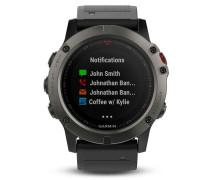 Garmin Fenix 5X Smartwatch Saphir Slate Gray 01...