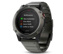 Garmin Fenix 5X Smartwatch Metallarmband Saphir...