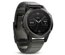 Garmin Fenix 5 Smartwatch Metallarmband Saphir ...