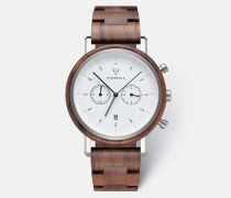 Herrenuhr Johann-Walnut-Silver