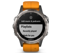 Garmin fenix 5 Plus Saphir Titanium/Oranges Arm...