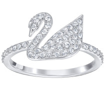 Iconic Swan Ring, Gr. 52, Crystal, 52...