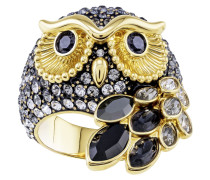 March Owl Motivring, mehrfarbig, verg...