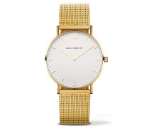 Uhr Sailor Line White Sand IP Gold Metallband I...