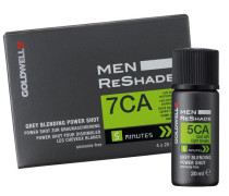 Men ReShade Grey Blending Power Shot - 4CA Cool Mittel-Aschbraun, Packung mit 4 x 20 ml