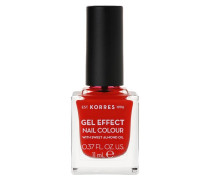 Sweet Almond Gel Effect Nail Colour - 48 Coral Red, 11 ml