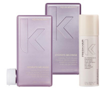 Kevin Murphy Hydrate-Me Wash Set (Shampoo 250 ml + Conditioner 250 ml + Trockenshampoo 57 ml)