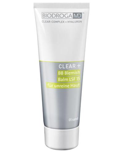 CLEAR+ BB Blemish Balm LSF 15 für unreine Haut - 01 Sand, 75 ml
