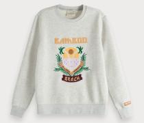 Sweatshirt mit Artwork Stickerei