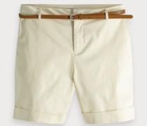 Merzerisierte Chino-Shorts