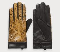 Handschuhe aus Schlangenlederimitat