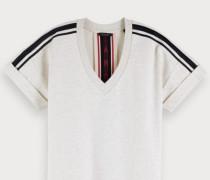 Sweat-Kleid mit V-Ausschnitt