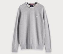 Sweatshirt mit unversäubertem Saum
