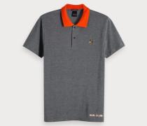Zweifarbiges Poloshirt