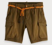 Cargo-Shorts mit Kordelgürtel