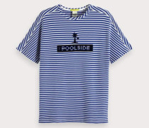 Gestreiftes Pool-T-Shirt