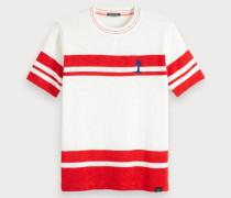 Grafisches Streifen T-Shirt