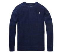 Pullover mit gerippten Ärmeln