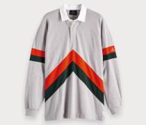 Oversize Poloshirt mit Colorblock-Design