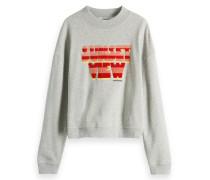 Sweatshirt mit Artwork Print im Brustbereich