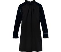 Kleid mit kontrastierendem Samt