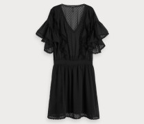 Bommel-Kleid mit Rüschen