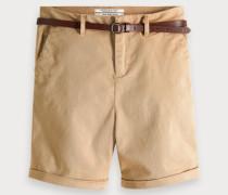 Chino-Shorts aus Baumwollstretch