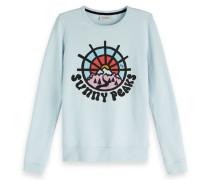 Sweatshirt mit Artwork und Rundhalsausschnitt