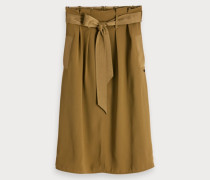 Belted High Waist Skirt
