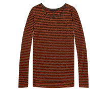 Langärmliges, gestreiftes Lurex-T-Shirt