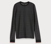 Transparentes Lurex-T-Shirt
