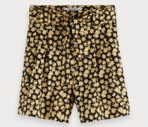 Shorts mit weitem Bein und Print
