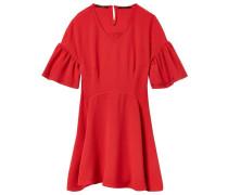 Kurzärmliges Kleid mit Ösen