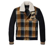 Jacke aus Wolle und Wildleder