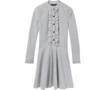 Baumwoll-Hemdkleid mit Rüschen