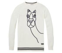 Pullover mit Kamel-Artwork Print