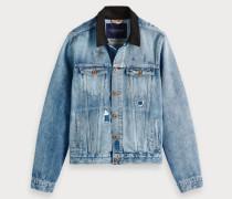 Jeansjacke mit Vintage-Waschung