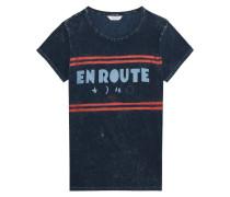 Jersey-T-Shirt mit Print