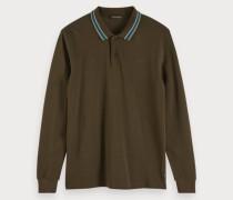 Langärmliges Piqué-Poloshirt