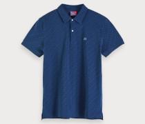 Zweifarbiges Piqué-Poloshirt