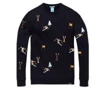 Sweatshirt mit Ski Artwork