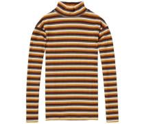 Lurex-T-Shirt mit bunten Streifen