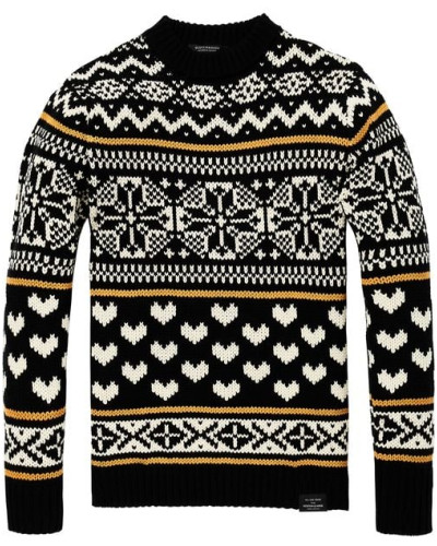 Pullover mit Shetland-Muster